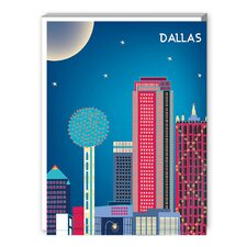 Dallas Graphic Art on Canvas