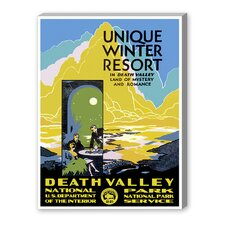 Death Valley National Park Vintage Advertisement on Canvas