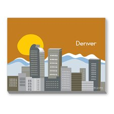 Denver Graphic Art on Canvas