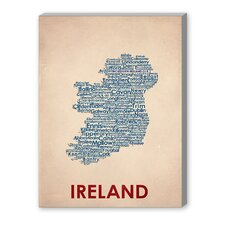 Ireland Textual Art on Canvas