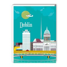 Dublin Graphic Art on Canvas