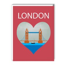 London Graphic Art on Canvas