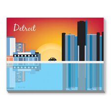 Detroit Graphic Art on Canvas