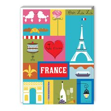 France Graphic Art on Canvas