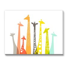 Giraffes Graphic Art on Canvas