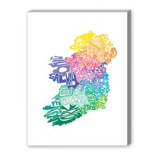 Ireland Spring Textual Art on Canvas
