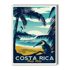 Costa Rica Vintage Advertisement on Canvas