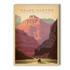 Grand Canyon National Park Vintage Advertisement on Canvas