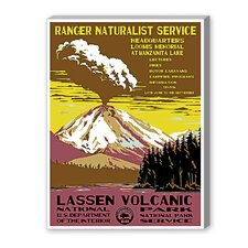 Lassen Volcanic National Park Vintage Advertisement on Canvas