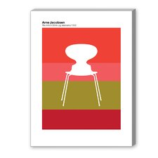 Jacobsen Graphic Art on Canvas in Ant Red
