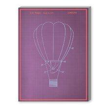 Hot Air Baloon Graphic Art on Canvas