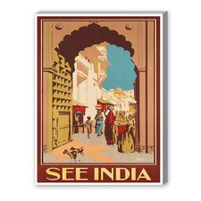 India Vintage Advertisement on Canvas