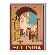 India Vintage Advertisement on Canvas