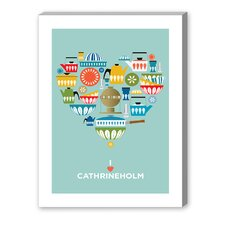 I Heart Cathrineholm Graphic Art on Canvas