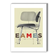 Eames DCM Chair Graphic Art on Canvas