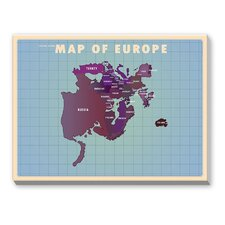 Europe Graphic Art on Canvas
