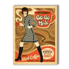 Gogo Mojo Vintage Advertisement on Canvas
