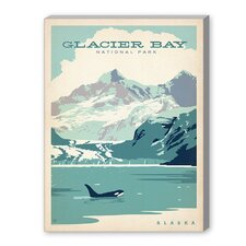 Glacier Bay Vintage Advertisement on Canvas