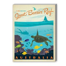 Great Barrier Reef Vintage Advertisement on Canvas