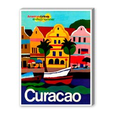 Curacao Vintage Advertisement on Canvas