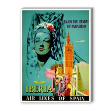 Iberia Vintage Advertisement on Canvas