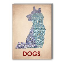Dogs Textual Art on Canvas
