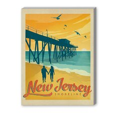 Jersey Shore Vintage Advertisement on Canvas