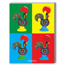 PopArt Portuguese Rooster Graphic Art on Canvas