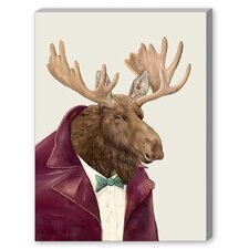 Moose Graphic Art on Canvas