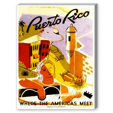 Puerto Rico Vintage Advertisement on Canvas