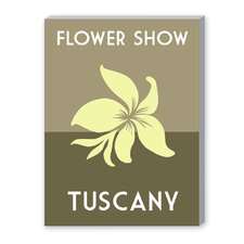 Flower Show, Tuscany Graphic Art on Canvas