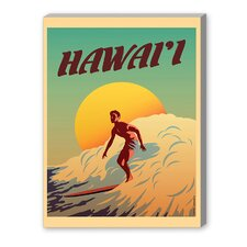 Hawaii Vintage Advertisement on Canvas