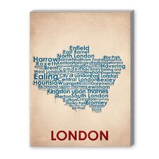 London Textual Art on Canvas