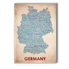 Germany Textual Art on Canvas