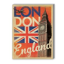 London Flag Vintage Advertisement on Canvas