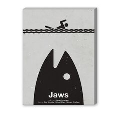 Jaws Graphic Art on Canvas