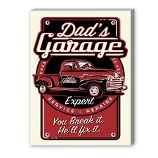 Dad's Garage Vintage Advertisement on Canvas