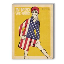 In Mod We Trust Vintage Advertisement on Canvas
