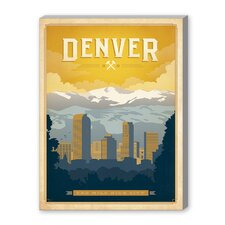 Denver Vintage Advertisement on Canvas