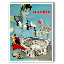 Madrid Graphic Art on Canvas