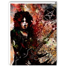 Nikki Sixx Graphic Art on Canvas
