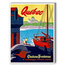 Quebec Vintage Advertisement on Canvas