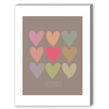 Love Thee Hearts Graphic Art on Canvas