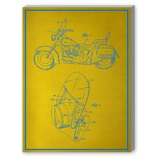 Motorcycle Graphic Art on Canvas