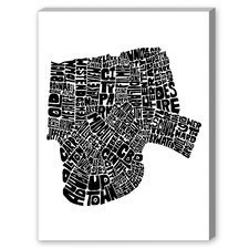New Orleans Textual Art on Canvas