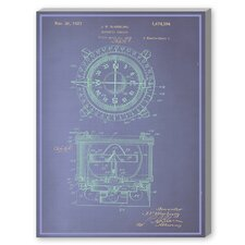 Magnetic Compass Graphic Art on Canvas