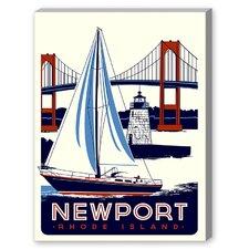 Newport Vintage Advertisement on Canvas