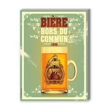 Bieres Hors du Commun Vintage Advertisement on Canvas