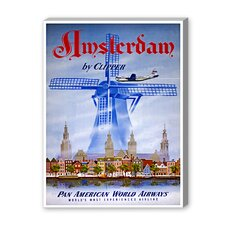 Amsterdam by Clipper Vintage Advertisement on Canvas