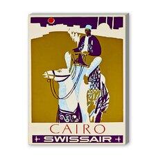 Cairo Swissair Vintage Advertisement on Canvas